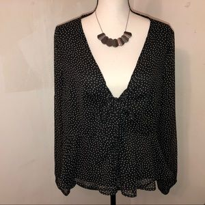 Abercrombie & Fitch Black/White Blouse